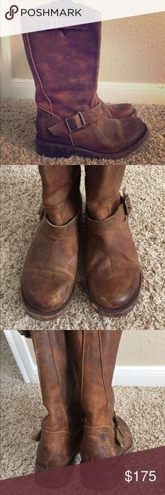 Freebird Crosby Brown distressed leather moto boot. Mid calf. Great condition! Leather has been well taken care of. Freebird by Steven Freebird by Steven Shoes Combat & Moto Boots