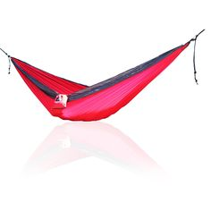 Outdoor Single One Person Compact Nylon Camping Hammock With Straps & Steel Carabiners Camping And Hiking, Hiking Gear, Camping Gear, Camping Hacks, Camping Hammock, Outdoor Camping, Hammocks, Hammock With Mosquito Net, Camping Lunches