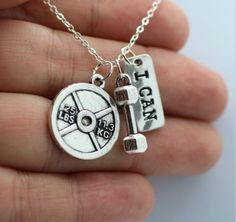 3 Charms Weightlifting Necklace