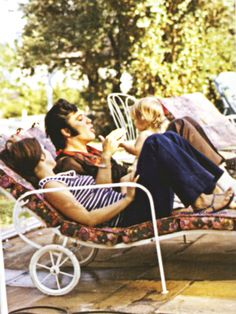 Elvis, Priscilla and Lisa Marie