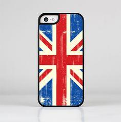 The Grunge Vintage Textured London England Flag Skin-Sert for the Apple iPhone 5c Skin-Sert Case