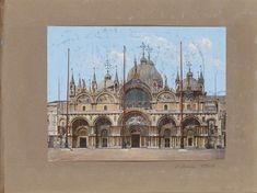 Voorgevel van de basiliek van San Marco in Venetië, anonymous, 1850 - 1876 - Rijksmuseum European Union Members, Artwork Display, Anonymous, Barcelona Cathedral, Venice, Canvas, Prints, Poster, Vintage