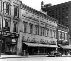 """Sellars Dept Store in Burlington, NC - as I child I received many gifts that came in the textured white box with a green """"Sellars"""" in flowing script embossed on it.  Gone, along with all of the downtown theaters except for the Paramount..."""