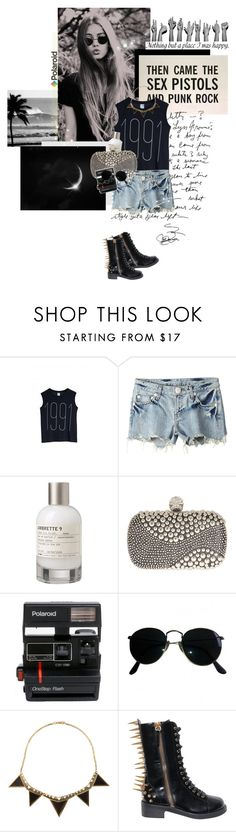 Then came the Sex Pistols and Punk Rock. by peppa19-7 on Polyvore featuring mode, Monki, Aula Aila, Giuseppe Zanotti, Alexander McQueen, House of Harlow 1960, Ray-Ban, Le Labo, Polaroid and women's clothing