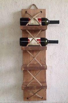 7 rusztikus bortartó, amit otthon is elkészíthetsz Woodworking Projects Diy, Diy Wood Projects, Wood Crafts, Wine Rack Design, Pallet Wine, Rustic Wine Racks, Wine Rack Wall, Wine Bottle Holders, Diy Furniture
