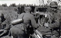 A Wehrmacht Anti-Tank crew manning a PAK-36 on the Russian Front in 1941