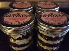 Irish Stout Jar cupcake-Chocolate by CookieTrayCookies Chocolate Beer, Chocolate Cupcakes, Thanksgiving Care Package, Jar Cakes, Beer Cupcakes, Cake In A Jar, Mason Jars, Irish, Etsy