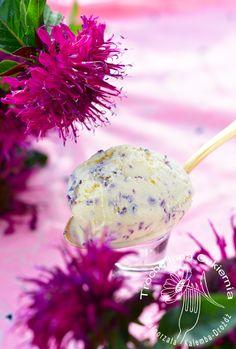 Lody z kwiatami pysznogłówki, Bee-balm ice-creams, Monarda ice-creams, lody z pysznogłówki