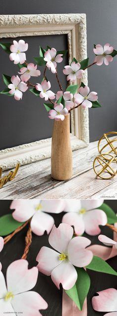 #Paperflower #SVG #Dogwoodbranch www.LiaGriffith.com