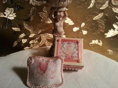 Pillow  Angels  Love Victorian  Rose   Box   by LaboratoriodiManu