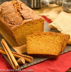 Cinnamon Crusted Pumpkin Bread--perfect fall comfort food!