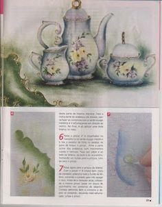 Edy pinturas e artes: Revista_pintura_tecido_1001 ideias_1_bule
