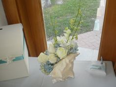 Image detail for -Conch Shell Table Sign In — Flowers by J & J