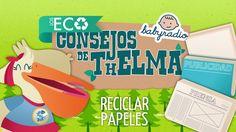 Educación ambiental para niños. Reciclar papeles.