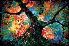 Waves of Golden Fire - Eyvind Earle, 1999.