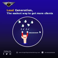 Lead generation is the easiest way to get more and more clients for your business. Spend less time on making and implementing new plans, hire best agency for lead generation, so you can focus on doing what you love. Get cost effective leads from social media and Google and easily convert. Talk us for lead generation services. #leadgeneration #digitalmarketing #DigitalMarketingServicesInDelhi #digitalmarketingcompanyindelhi #DigitalMarketingAgencyInIndia #gauravdubey #kingofdigitalmarketing Digital Marketing Services, Seo Services, Seo Sem, Lead Generation, Social Media, India, How To Plan, Business, Google