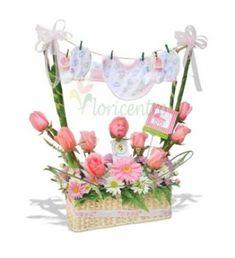 arreglos florales baby shower niño