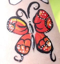 Red Butterfly Facepaint http://rachelannpoling.com/serialHobbyist/getting-into-face-painting/