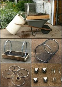 This easy to build compost sifter keeps the courser materials and debris out of your garden beds. http://diyprojects.ideas2live4.com/2014/10/11/diy-compost-sifter/ You can also use it to sift garden mulch or even rocks out of soil. Do you make your own compost? This simple compost sifter will make your composting easier!