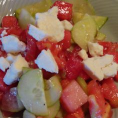 Watermelon Summer Salad Recipe | Just A Pinch Recipes