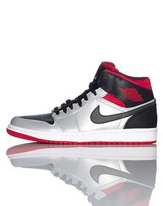 JORDAN High top men's sneaker Lace closure JORDAN logo on side of shoe Padded tongue with logo Cushioned sole for ultimate comfort and performance