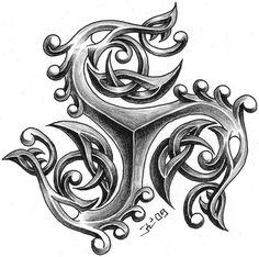 celtic tattoo designs by on deviantART Simbolos Tattoo, Body Art Tattoos, New Tattoos, Tribal Tattoos, Crane Tattoo, Ankle Tattoo, Tatoos, Tattoo Sketches, Celtic Art
