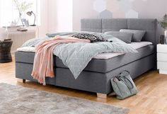 boxspringbett inkl topper und kissen schlafzimmer otto pinterest. Black Bedroom Furniture Sets. Home Design Ideas