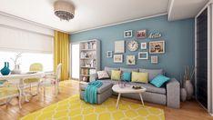 Amenajare interioara apartament 3 camere Tineretului - iDecorate Corner Desk, Gallery Wall, Furniture, Home Decor, Homemade Home Decor, Corner Table, Home Furnishings, Decoration Home, Arredamento
