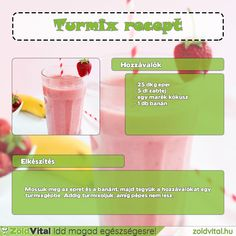 Egyszerűen és gyorsan elkészíthető eper turmix recept #iddmagadegeszsegesre #turmix