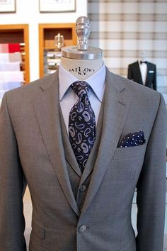 men suits style -- Click Visit link for Sharp Dressed Man, Well Dressed Men, Mens Fashion Suits, Mens Suits, Grey Suits, Men's Fashion, Mode Man, Mens Attire, Groom Attire