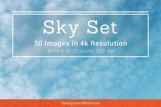 Sky and Clouds Photos Set by Backgrounds Store on @creativemarket