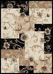 Neutral flower rug