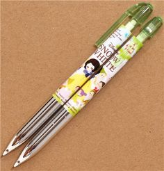 silver-green fairy tale mechanical pencil with Snow White 1