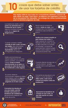 infografias de tarjetas de crédito | 10 cosas que debe saber antes de usar las tarjetas de crédito