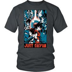Goku and Vegeta Just Saiyan Men Short Sleeve T Shirt - TL00007SS