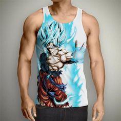 f7b621febdfe0b Dragon Ball Z Super- Super Saiyan God Blue Goku Tank Top
