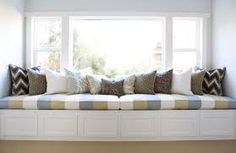 The Window Seat has been applied in many house since century. Small backless sofa is a must to use window seat.The window seat idea had Window Seat Cushions, Window Benches, Window Seats, Window Bed, Bench Cushions, Window Nooks, Porch Bench, Window Wall, Home Living