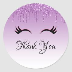 Stylish Pink & Black Eyelashes on Dripping Glitter Classic Round Sticker , Thank You Messages For Birthday, Thank You Wishes, Thank You Cards, Happy Birthday Flower, Birthday Wishes, Thank You Wallpaper, Imagenes Mary Kay, Logo Online Shop, Thank You Images