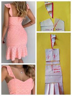 Fashion Sewing, Diy Fashion, Fashion Outfits, Moda Fashion, Dress Sewing Patterns, Clothing Patterns, Sewing Clothes, Diy Clothes, Costura Fashion
