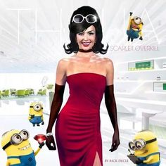 Thalía as Scarlet Overkill. Her dress is a bit different than the U.S. version.