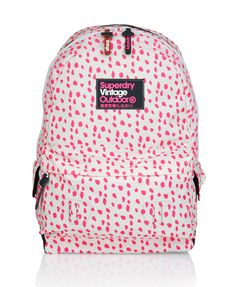 1469cd6cea21c Shop Superdry Womens Montana Backpack in Punk Pink white. Buy now with free  delivery from the Official Superdry Store.