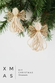 Diy christmas decorations 810999845370699955 - cute DIY christmas ornaments for the christmas tree or as decoration or even as a gift. made with twine and ribbon, totally gorgeous. great tutorial Source by mycraftchens Ribbon On Christmas Tree, Christmas Angels, Christmas Holidays, Christmas Wreaths, Christmas Poinsettia, Crochet Christmas, Handmade Christmas Decorations, Christmas Ornament Crafts, Holiday Crafts