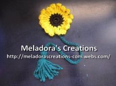Sunflower Book Marker - Meladora's Creations Free Crochet Patterns & Tutorials