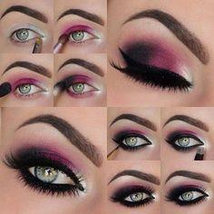 Maquillaje de ojo para ojos verde