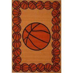 LA Rug Fun Time Basketball Time Multi Colored 39 In. X 58 In. Area Rug