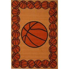 LA Rug Inc Fun Time Basketball Time Multi Colored 39 in. x 58 in. Area Rug-FT 93 3958 at The Home Depot $50 free shipping