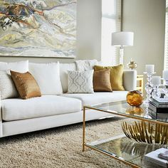 Brass Coffee Table view full size. Contemporary living room ...