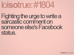 Every time I'm on FB