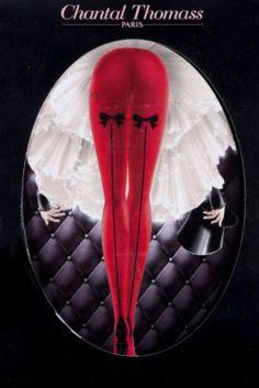 Retrouvez Chantal Thomass Chantal Thomass collant rouge opaque Noeuds libertins avec Shoppinity