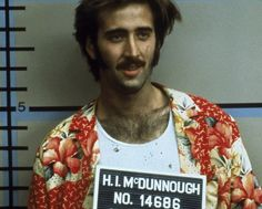 Nicolas Cage / Raising Arizona / 1987 directed by Coen brothers [Twentieth Century Fox Films Corp] Nicolas Cage, Love Movie, Movie Stars, Movie Tv, Patricia Arquette, Lisa Marie Presley, About Time Movie, All About Time, Long Beach